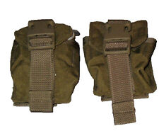 Lot of 2 US Army Military Surplus MOLLE Coyote Frag Grenade Pouch MARSOC VG