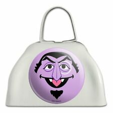 Sesame Street Count Face White Metal Cowbell Cow Bell Instrument
