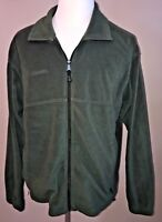 Columbia Mens Jacket Green Fleece Full Zip Coat Size XL