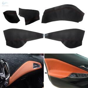 For Chevrolet Cruze 2016-2018 Door Armrest/Dashboard Panels Leather Cover Kit