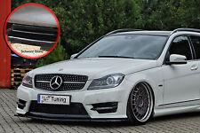 Spoilerschwert Frontspoiler ABS Mercedes C-Klasse W204 AMG ABE schwarz glänzend