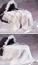 BABIES BLANKETS~TARTAN~CABLE~LACE~CROCHET~4 PLY/DOUBLE KNITTING PATTERN~ (X 28)