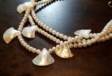 BOSTON PROPER Natural Vintage Mother of Pearl  Shells string necklace