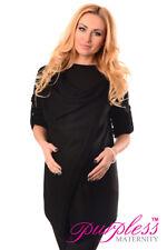 Purpless Maternity and Nursing Cardigan 9005 UK 12-14 Black