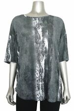 DKNY Women's Petite Loose Fit Scoop Nk Tunic PS