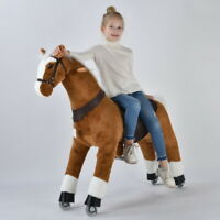 UFREE Riding Horse 44''Large, Ride on Pony as Gift for Kids,6-Adult,White Mane