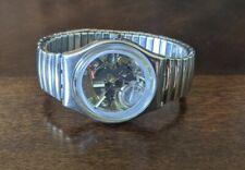 Vintage SWATCH Men's Wrist Watch Flex Band Needs New Battery Parts? Repair?