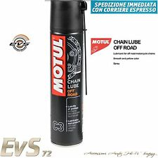 Motul C3 Chain Lube Off Road Grasso Spray Catena Moto Fuori Strada Cross 400ml