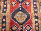 """3'6""""x8'6"""" Authentic Vintage Unique Hand knotted wool Oriental Antique rug runner"""