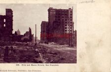 pre-1907 ELLIS AND MASON STREETS, SAN FRANCISCO (after earthquake)