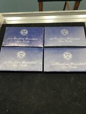Lot Of 4-1971-1974 United States Eisenhower Uncirculated Silver Dollar w/Coa