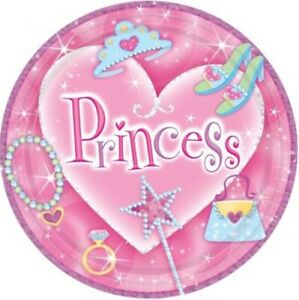 Princess Plates - 9inch plates - 8 pack - Party Tableware