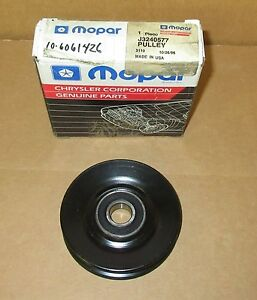 Mopar J3240577 A/C Idler Pulley for 1985 1986 1987 Jeep Vehicles NOS MADE IN USA