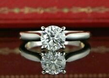 $16,800 Cartier 1895 Platinum GIA 0.94ct F VS1 Solitaire Diamond Engagement Ring