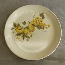 3 Vintage Johnson of Australia Dinner Plates Retro Fruit Grapes 1960s - 70s 25cm