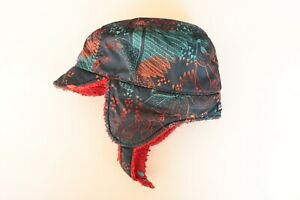 PATAGONIA Baby Reversible Shell Hat Forest Folklore & Navy Blue Size 24 Months
