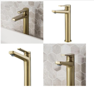 KRAUS Indy Single Hole Single-Handle Vessel Bathroom Faucet in Brushed Gold