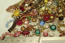 HUGE MIX Shapes Lot SWAROVSKI Rhinestone Jewelry Brass Setting Rope Craft Repair