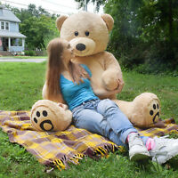 "Giant Teddy Bear Huge Soft Stuffed Plush Animal Toy Doll 72"" Accompany Gift Bear"