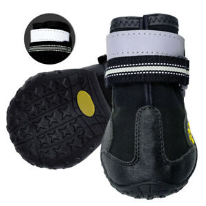 Non-Slip Dog Waterproof Shoes Reflective Rain Boots Booties for Medium Large Dog