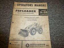 International Hough H30 Pay Loader 4WD Tractor Shovel Owner Operator Manual Book