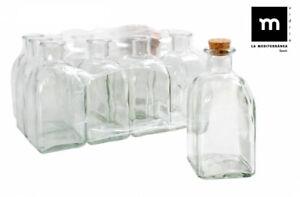 6x FRASCA 250ML Glass Bottle with cork TAP wine CARAFE liquor olive oil wine