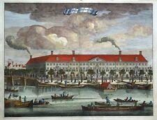 AMSTELHOF, AMSTERDAM, DIAKENE OUDE VROUWEN HUYS, Commelin antique print 1693
