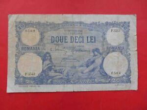 Romania 1923 20 Lei banknote 1909-1916 Issue Banca Nationala a Romaniei. P-20a