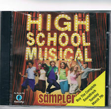 High School Musical Sampler CD Disney Promo 5 tracks NEW Sealed  RARE