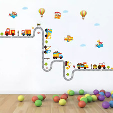 Removable Wall Stickers Kids Children Room Decoration Wallpaper Cartoon Car Stic
