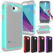 Shockproof Hybrid Phone Case Cover for Samsung Galaxy J3 Emerge /Luna Pro /Prime