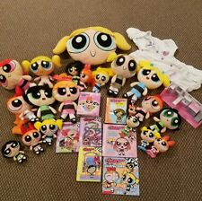 Powerpuff Girls Lot 19 dolls Bubbles/ Blossom/Buttercup,5 Books,1puzzle +