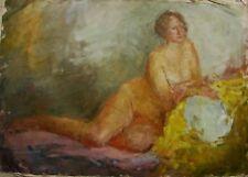 Russian Ukrainian Oil Painting female Portrait nude girl woman Impressionism