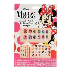Disney Minnie Mouse Bowtique 65 Piece Decorative Nail Art Kit
