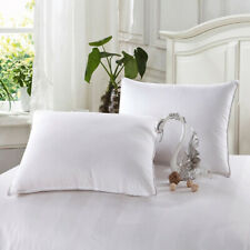 1 Pack Home Down Alternative Bed Pillow for Sleeping Soft Pillow Cotton Shell