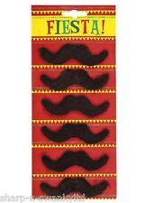 x 6 Hommes Années 70 Mario mexicain Faux adhésif moustache