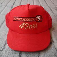 Vintage San Francisco 49ers Snapback Hat 80s 90s Cap