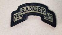 U.S. Army Military Intelligence Battalion 75th Ranger OCP Patch W/Fastener