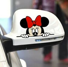 2 Minnie Mouse  car sticker Wall Sticker Window Sticker Decal Funny Car Sticker.