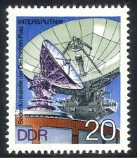 Germany (DDR) 1976 Radio Dish/Satellite/Space/Communications/Telecomms 1v n23536