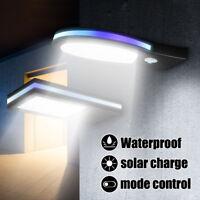 Solar Powered PIR Motion Sensor LED Wall Light Outdoor Garden Path Street Lamp