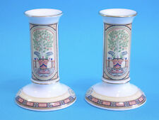 COPPIA DI CANDELIERI CANDLESTICKS IN PORCELLANA ©1996 Royal Worcester VERSAILLES