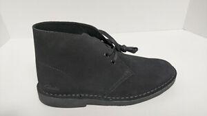 Clarks Desert Boot 2, Black Suede, Women's 9 M