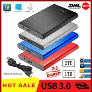 Externe Festplatte Memory Drive USB 3.0 1TB 2TB HDD für PC Laptop 2,5 Tragbare