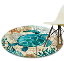 Best Spring Rugs Sea Pattern Mat Round Shaped DIY for Home Decor Bedroom in 2021