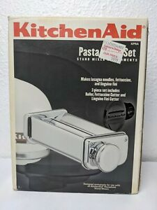 Genuine Kitchen Aid 3 Piece Pasta Roller Set Stand Mixer Attachment KPRA - Clean