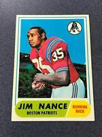 1968 Topps #72 JIM NANCE Boston Patriots EXMT (AP23)