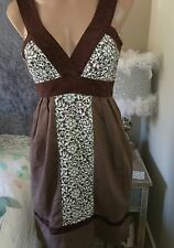 Willow designer dress size 10 party wedding races brown lace cocktail