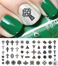 Celtic Irish Cross Nail Art Decals Set #1 Salon Quality!  -  St. Patrick's Day