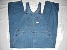 Vintage Sears Tradewear Union Made Blue Denim Bib Overalls 42 x 31 Button Fly